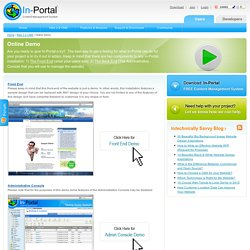 Online Demo - In-Portal Web 2.0 Content Management System (CMS)