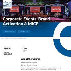 Best Online Corporate Event Management Course in India