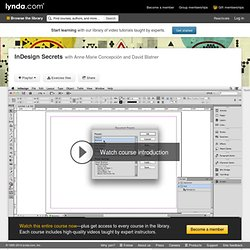 Watch the Online Video Course InDesign Secrets