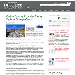 Online Course Provider Paves Path to College Credit