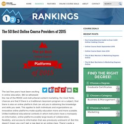 The Top 50 Online Course Providers of 2015