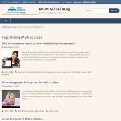 Online MBA courses Archives - MIBM Global BLog