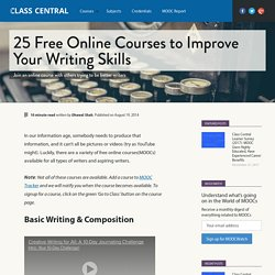 19 Free Online Courses to Improve Your Writing Skills