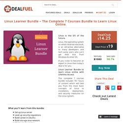 Learn Linux Online with 7 Courses of Linux Learner Bundle