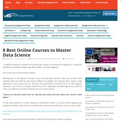 8 Best Online Courses to Master Data Science