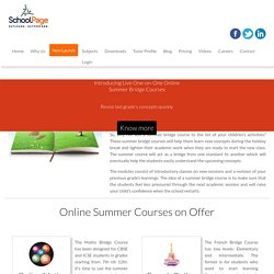 Does Online Summer Courses benefits Students?