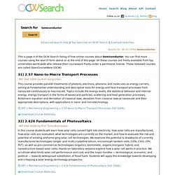Free online courses: Semiconductor - Page 4 - OCW Search