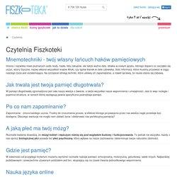 Jak się uczyć, nauka-online,... czyli Czytelnia Fiszkoteki