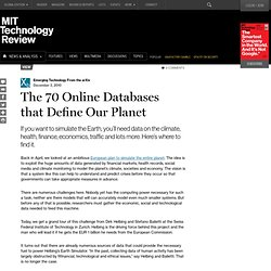 The 70 Online Databases that Define Our Planet