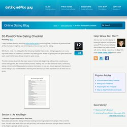 30-Point Online Dating Checklist - Online Dating Advice
