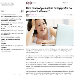How much of your online dating profile do people actually read?