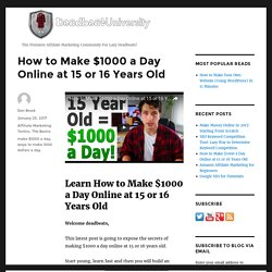 Make 1000 dollars a day online