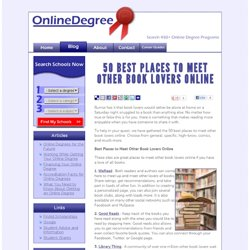 50 Best Places to Meet Other Book Lovers Online | Online Degree