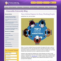Top 5 Online Degrees for Busy, Working People