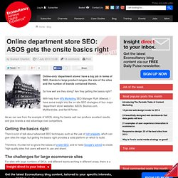 Online department store SEO: ASOS gets the onsite basics right