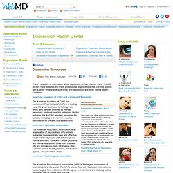 Online Depression Resources