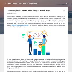 Online design store: The best way to start your website design