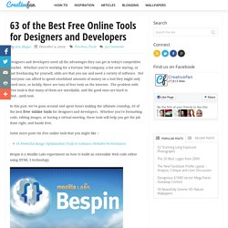 63 of the Best Free Online Tools for Designers and Developers