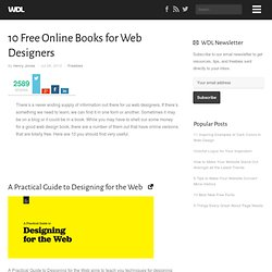 10 Free Online Books for Web Designers | Freebies