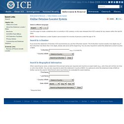 Online Detainee Locator System