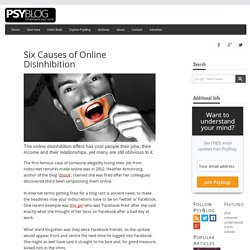 The Online Disinhibition Effect