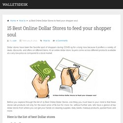 15 Best Online Dollar Stores to feed your shopper soul