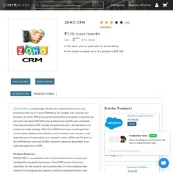 Zoho CRM-An Institutive Software to for Customer Relationship Management
