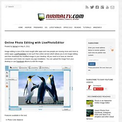 Online Photo Editing with LivePhotoEditor