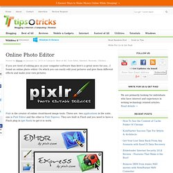 Online Photo Editor | TipsoTricks - Computing and Blogging Tips