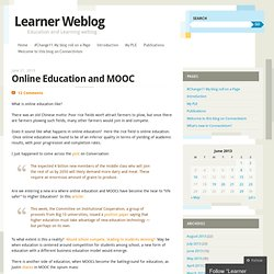 Online Education and MOOC