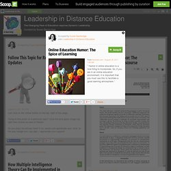Online Education Humor: The Spice of Learning | Leadership in Distance Education