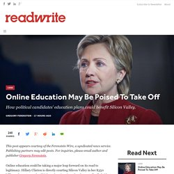 Online Education May Be Poised To Take Off - ReadWrite