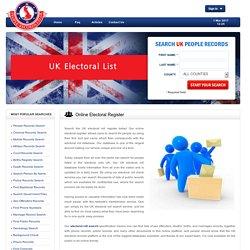 Online Electoral Register