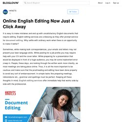 Online English Editing Now Just A Click Away