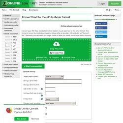 Online ePub converter