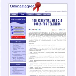 100 Essential Web 2.0 Tools for Teachers