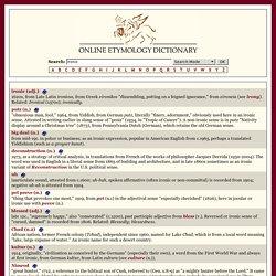 ironic Online Etymology Dictionary