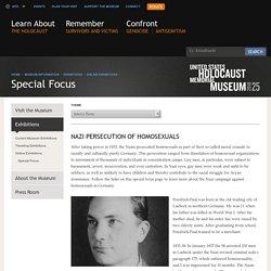 US Holocaust Memorial Museum: Nazi Persecution of Homosexuals
