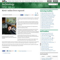 Kiwi's online lives exposed - New Zealand's source for technology news on Stuff.co.nz