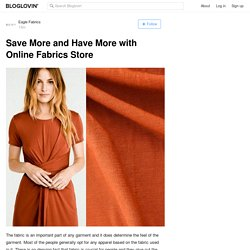 Save More and Have More with Online Fabrics Store