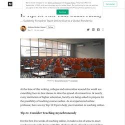 10 consejos para profesores que dan clase virtual por primera vez