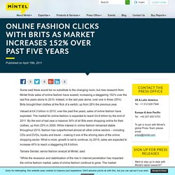 Online fashion clicks with Brits as market increases 152% over past five years