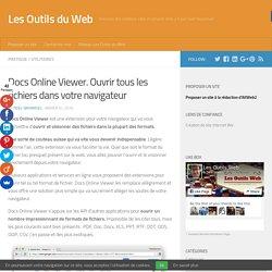 Docs Online Viewer. Ouvrir tous les fichiers dans votre navigateur