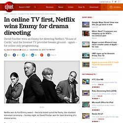 In online TV first, Netflix wins Emmy for drama directing