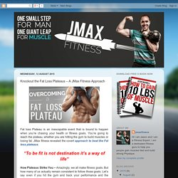 Weight Loss Plateau – JMax Fitness