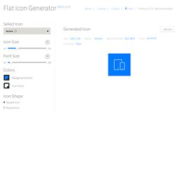 Online Flat Icon Generator