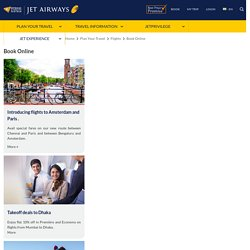 Online Flight Booking - Jet Airways