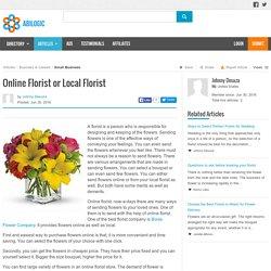 Online Florist or Local Florist
