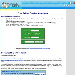 Free Online Fraction Calculator