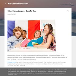 Online French Language Class for Kids